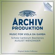 August Wenzinger, Schola Cantorum Basiliensis: August Wenzinger - Music For Viola Da Gamba - CD