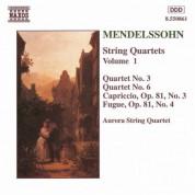 Mendelssohn: String Quartets Nos. 3 and 6 / Capriccio Op. 81, No. 3 - CD