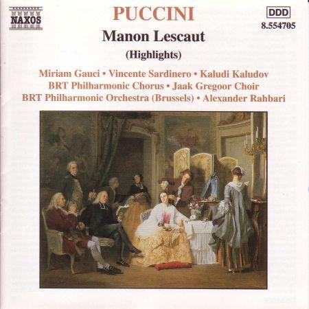 Puccini: Manon Lescaut (Highlights) - CD
