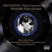 Glenn Gould: Beethoven, L. Van: Piano Concerto No. 2 / Brahms, J.: Piano Quintet (Gould) (1957) - CD