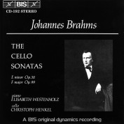 Elisabeth Westenholz, Christoph Henkel: Brahms: Cello Sonatas - CD
