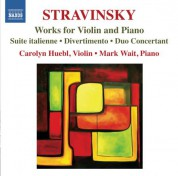 Carolyn Huebl, Mark Wait: Stravinsky: Works for Violin and Piano - CD