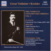Bach, J.S. / Mozart: Violin Concertos (Kreisler) (1915-1945) - CD