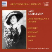 Lehmann, Lotte: Lieder Recordings, Vol. 2 (1937-1940) - CD