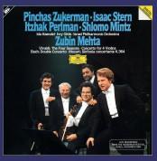 Zubin Mehta, Pinchas Zukerman, Isaac Stern, Itzhak Perlman, Shlomo Mintz: Vivaldi, Bach, Mozart: The Four Seasons, Concerto for 4 Violin, Double Concerto, Sinfonia concertante K.364 - Plak