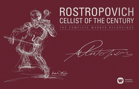 Mstislav Rostropovich: Cellist of the Century - The Complete Warner Recordings - CD
