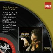 Itzhak Perlman, André Previn: Korngold / Goldmark / Sinding: Violin Concertos, Suite in A Minor - CD