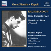 Rachmaninov: Piano Concerto No. 2 / Rhapsody On A Theme of Paganini (Kapell) (1950-1951) - CD