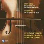 Mstislav Rostropovich, Malcolm Sargent, Philharmonia Orchestra: Saint-Saëns / Miaskovsky: Cello Concerto No. 1 / Cello Concerto - CD