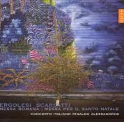 Concerto Italiano, Rinaldo Alessandrini: Pergolesi/ Scarlatti: Messa Romana / Messa Per Il Santo Natale - CD