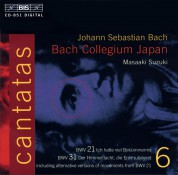 Bach Collegium Japan, Masaaki Suzuki: J.S. Bach: Cantatas, Vol. 6 (BWV 21, 31) - CD