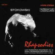 RCA Victor Symphony Orchestra, Leopold Stokowski: Stokowski Rhapsodies- Liszt: Hungarian Rhapsodies / Enesco: Roumanian Rhapsody No.1 (200g-edition) - Plak