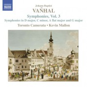 Kevin Mallon, Toronto Chamber Orchestra: Vanhal: Symphonies, Vol. 3 - CD
