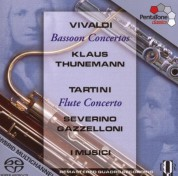 Klaus Thunemann, I Musici, Severino Gazzelloni: Vivaldi, Tartini: Bassoon Concertos, Flute Concerto - SACD