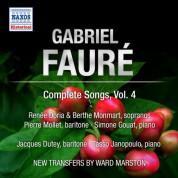 Renee Doria: Faure: Complete Songs, Vol. 4 - CD