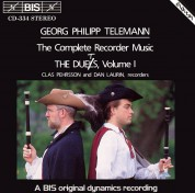 Clas Pehrsson, Dan Laurin: Telemann - Recorder Duets, Vol.I - CD