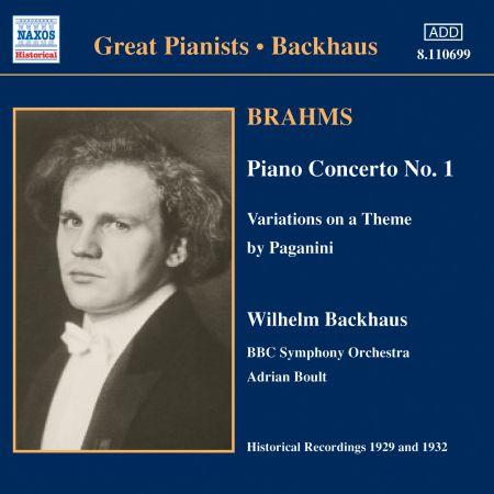 Brahms: Piano Concerto No. 1 (Backhaus) (1932) - CD