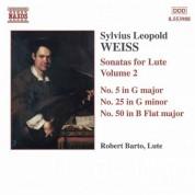 Robert Barto: Weiss, S.L.: Lute Sonatas, Vol.  2  - Nos. 5, 25, 50 - CD
