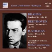 Herbert von Karajan: Brahms, J.: Symphony No. 1 / Beethoven, L.: Leonore Overture No. 3 / Strauss, R.: Salome: Dance of the Seven Veils (Karajan) (1943) - CD