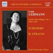 Lotte Lehmann: Lehmann, Lotte: Lieder Recordings, Vol. 5 (1941-1942) - CD