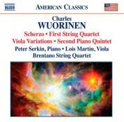 Peter Serkin: Wuorinen: Scherzo - String Quartet No. 1 - Viola Variations - Piano Quintet No. 2 - CD