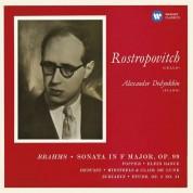 Mstislav Rostropovich, Alexander Dedyukhin: Brahms & Debussy & Scriabin: Cello Sonata No. 2 & Works by Popper, Minstrels, Clair de Lune - CD