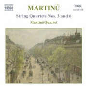 Martinu: String Quartets Nos. 3 and 6 - CD