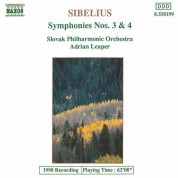 Sibelius: Symphonies Nos. 3 and 4 - CD