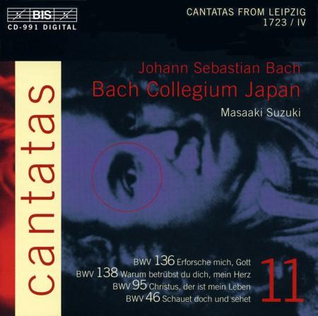 Bach Collegium Japan, Masaaki Suzuki: J.S. Bach: Cantatas, Vol. 11 (BWV 136, 138, 95, 46) - CD