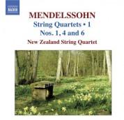 New Zealand String Quartet: Mendelssohn, Felix: String Quartets, Vol. 1  - String Quartets Nos. 1, 4, 6 - CD