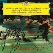 Berliner Philharmoniker, Herbert von Karajan: Debussy / Ravel: La Mer / Prelude a L'apres / Daphnis Et Chloe - Plak