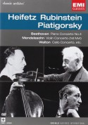 Jascha Heifetz, Arthur Rubinstein, Gregor Piatigorsky: Beethoven/ Mendelssohn/ Walton: Piano Concerto No 4/ Violin Concerto/ Cello Concerto - DVD