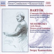 Boston Symphony Orchestra: Bartok: Concerto for Orchestra / Mussorgsky: Pictures at an Exhibition (Koussevitzky) (1943-1944) - CD