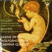 Sabine Meyer, Wolfgang Meyer, Carmina Quartet: Mozart, Brahms: Clarnet Quintet K.581 / Clarnet Quintet in B Minor - CD