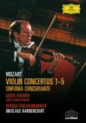 Gidon Kremer, Kim Kashkashian, Nikolaus Harnoncourt, Wiener Philharmoniker: Mozart: 5 Violin Concertos - DVD