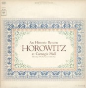 Vladimir Horowitz - Horowitz At Carnegie Hall - Plak