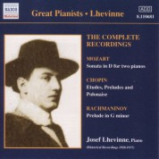 Lhevinne, Jozef: Complete Recordings (1920-1937) - CD
