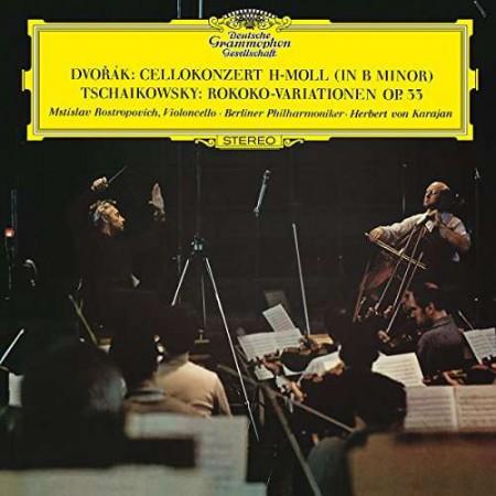 Mstislav Rostropovich, Herbert Von Karajan, Berlin Philharmonic Orchestra: Dvorak, Tchaikovsky: Cello Converto, Rokoko Variation - Plak