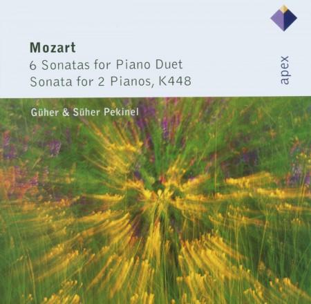 Güher & Süher Pekinel: Mozart: 6 Sonatas for Piano Duet / Sonata for 2 Pianos, K448 - CD