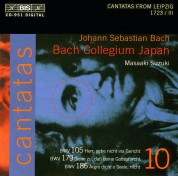 Bach Collegium Japan, Masaaki Suzuki: J.S. Bach: Cantatas, Vol. 10 (BWV 179, 105, 186) - CD