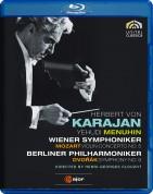 Yehudi Menuhin, Wiener Symphoniker, Berliner Philharmoniker, Herbert von Karajan: Mozart, Dvorak: Violin Con. No.5, Sym. No.9 - BluRay