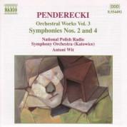 Antoni Wit: PENDERECKI: Sinfonien Nr. 2 und 4 - CD
