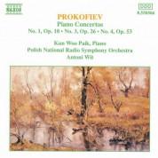 Narodowa Orkiestra Symfoniczna Polskiego Radia, Kun Woo Paik, Antoni Wit: Prokofiev: Piano Concertos Nos. 1, 3 & 4 - CD