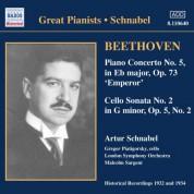 Beethoven: Piano Concerto No. 5 / Cello Sonata No. 2 (Schnabel) (1932) - CD