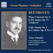 Beethoven: Piano Concerto No. 5 / Cello Sonata No. 2 (Schnabel) (1932) - CD