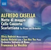 Francesco La Vecchia: Casella: Notte di maggio - Cello Concerto - Scarlattiana - CD
