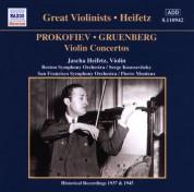 Prokofiev / Gruenberg: Violin Concertos (Heifetz) (1937, 1945) - CD