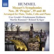 Friedemann Eichhorn, Uwe Grodd, Roland Kruger, Martin Rummel: Mozart: Symphonies Nos. 38, 39, 40 (Arr. Hummel) - CD