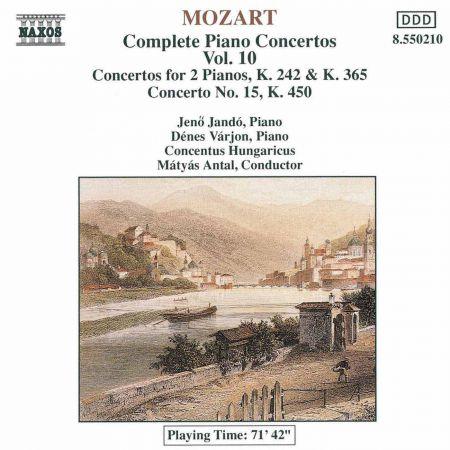 Jeno Jando: Mozart: Piano Concertos Nos. 7, 10 and 15 - CD