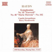 Haydn: Symphonies, Vol.  4 (Nos. 45, 48, 102) - CD